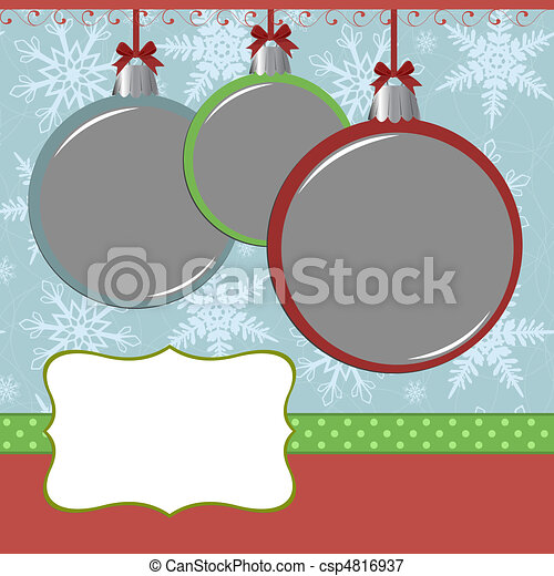 Xmas photo frame - csp4816937