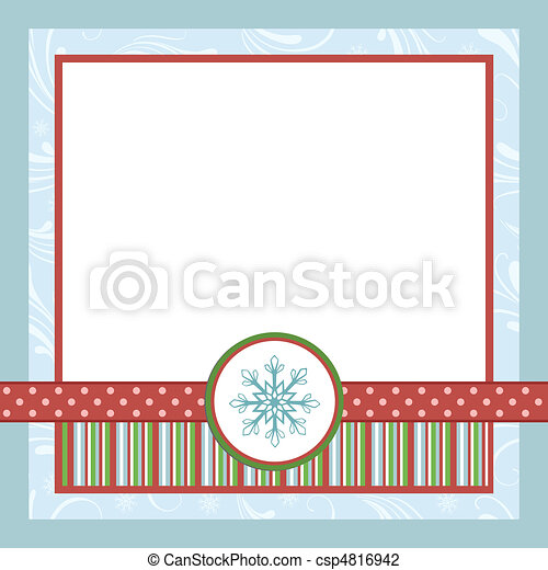 vector illustration of blank template for christmas greetings card postcard or csp4816942. Black Bedroom Furniture Sets. Home Design Ideas