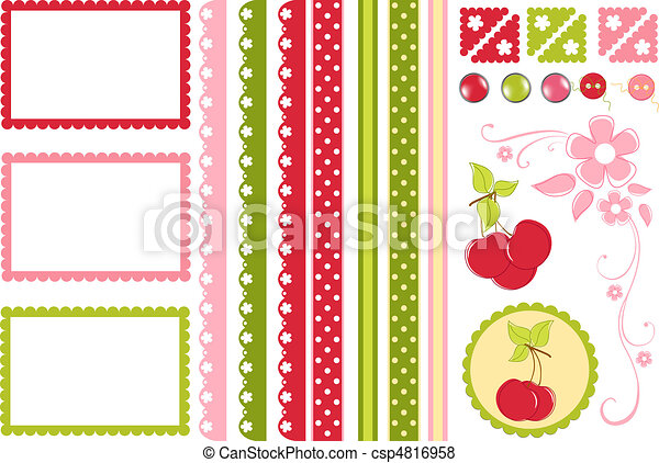 Scrapbook elements. Decors - csp4816958