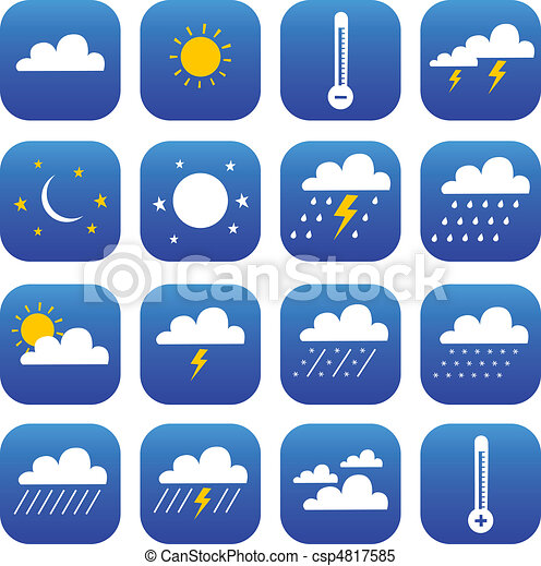 set of Weather and Climate - csp4817585