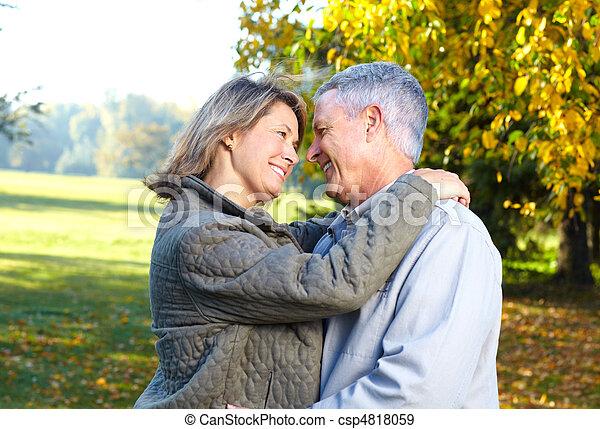 elderly seniors couple - csp4818059