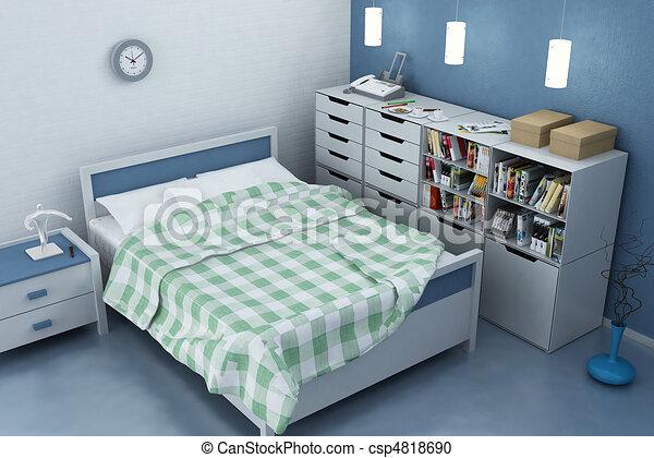 3D rendering of home interior - csp4818690