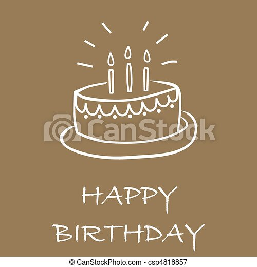 Birthday cake card - csp4818857