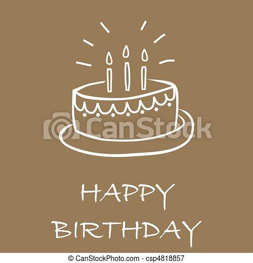 Birthday cake card - csp4818857