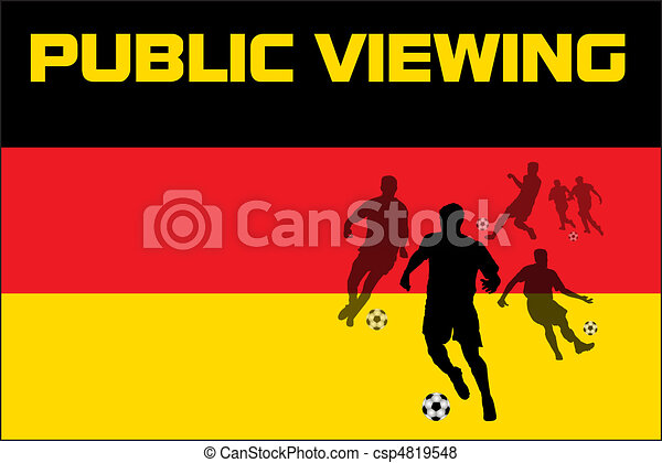 Public Viewing - Germany - csp4819548