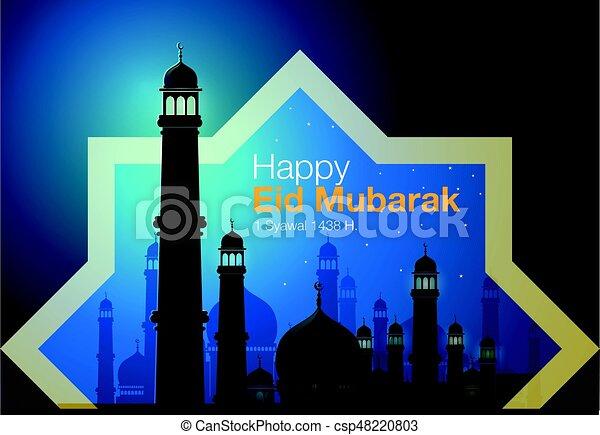 Happy eid Mubarak - csp48220803