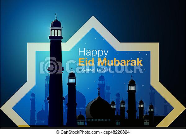 Happy eid Mubarak - csp48220824