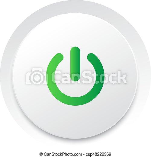 macht, Formaat, eenvoudig, knoop,  switch,  Vector,  UI - csp48222369