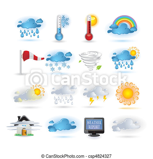Weather report  icon set - csp4824327