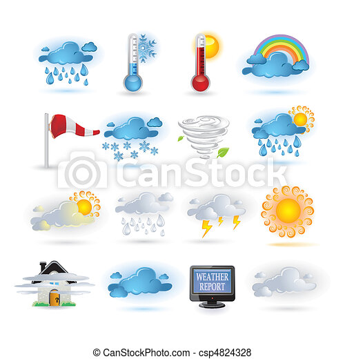 Weather report  icon set - csp4824328
