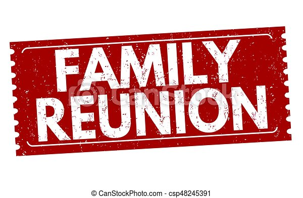 Family reunion sign or stamp - csp48245391