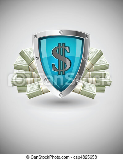 security shield protecting money business concept - csp4825658