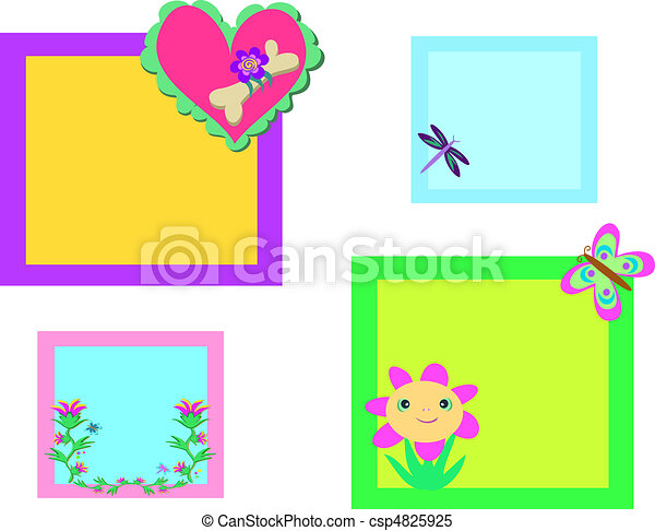 Mix of Colorful Nature Frames - csp4825925