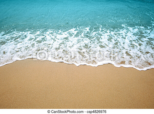 water wave and sand - csp4826976