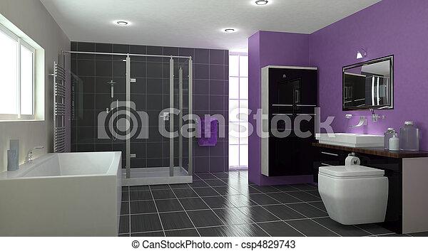 Stock foto 39 s van tijdgenoot badkamer interieur 3d for Badkamer plannen in 3d