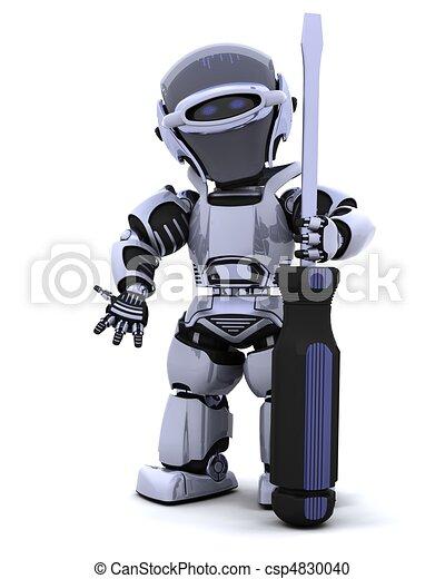 robot with a screwdriver - csp4830040