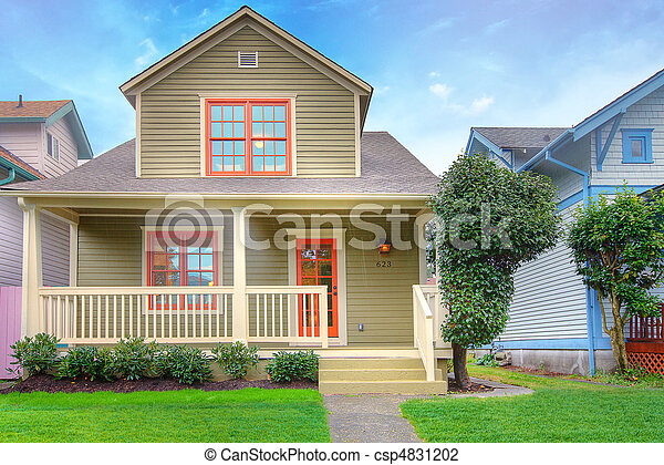 Cute craftsman style house - csp4831202