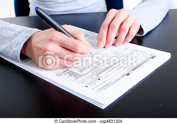 Form 1040. Income Tax Return  - csp4831324