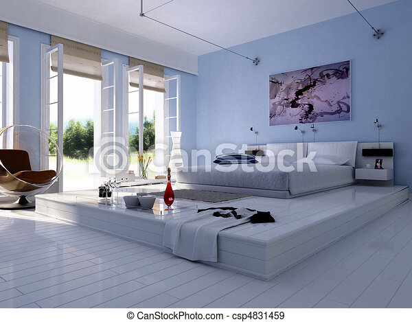 3D rendering of home interior - csp4831459