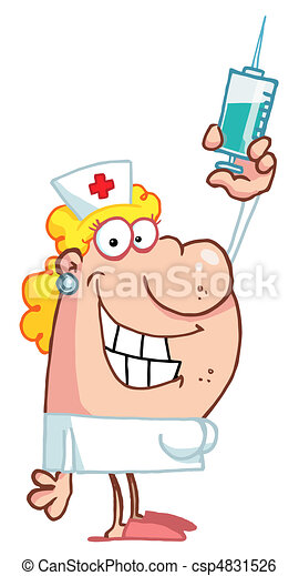 Nurse with syringe - csp4831526