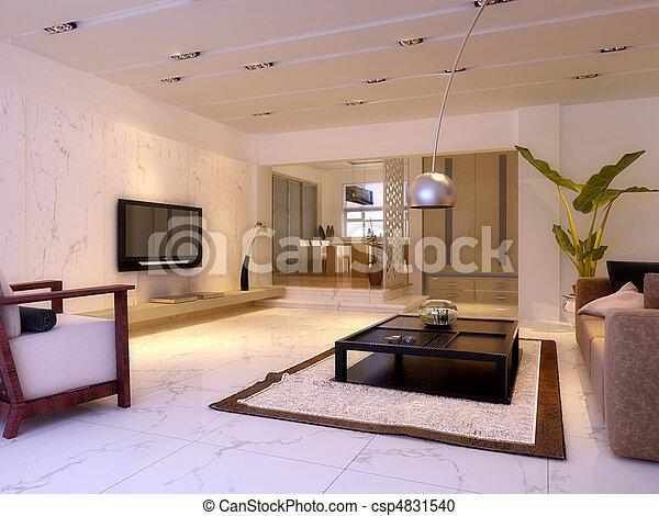 stock illustration von inneneinrichtung wohnzimmer inneneinrichtung modisch csp4831540. Black Bedroom Furniture Sets. Home Design Ideas