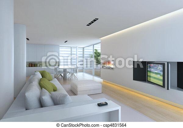 stock illustration von inneneinrichtung, wohnzimmer - interior, Deko ideen