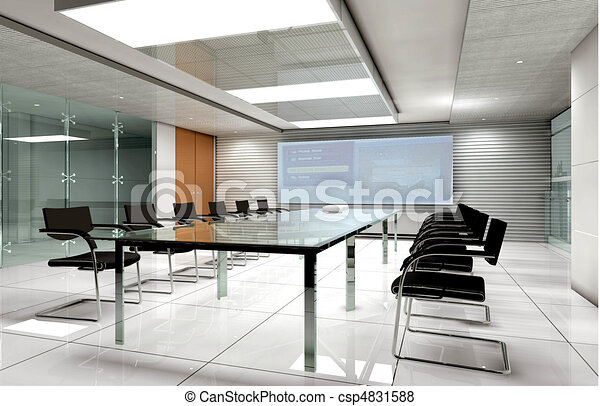3D rendering of a Conference room - csp4831588