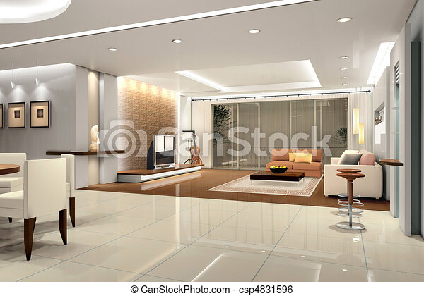 stock illustration von inneneinrichtung wohnzimmer inneneinrichtung modisch csp4831596. Black Bedroom Furniture Sets. Home Design Ideas