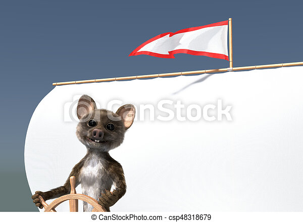 Arrow flag mouse sailor - csp48318679