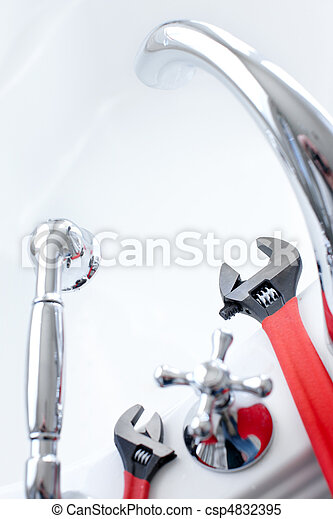 Bath. Wrench. Plumling - csp4832395