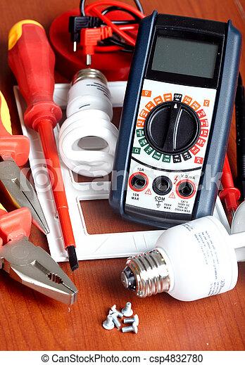 Didtal volt meter - csp4832780