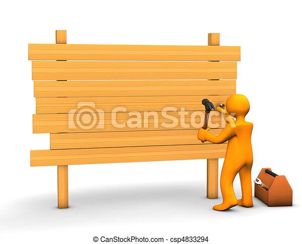 Carpenter - csp4833294