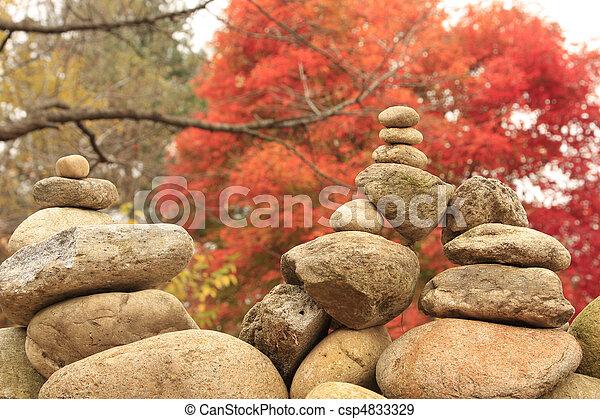 Zen religion stone - csp4833329