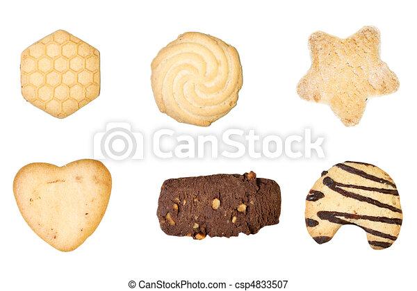 Set of six delicious cookies - csp4833507