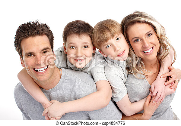 famille, heureux - csp4834776