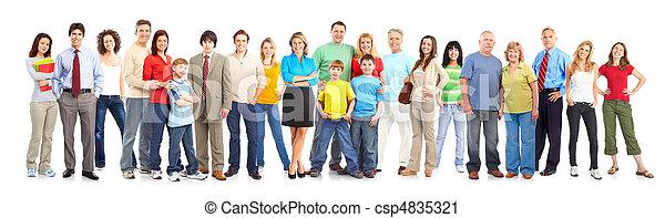幸せ, 人々 - csp4835321