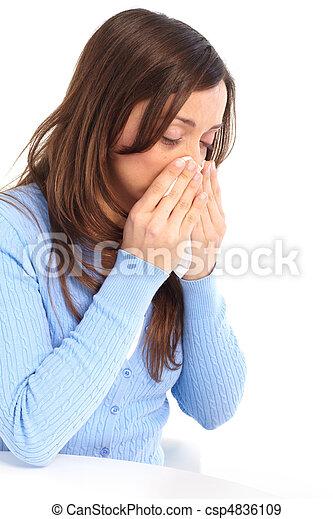 Flu, allergy - csp4836109