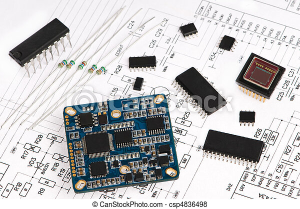 micro electronics element and layout - csp4836498