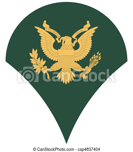 US army specialist insignia - csp4837404