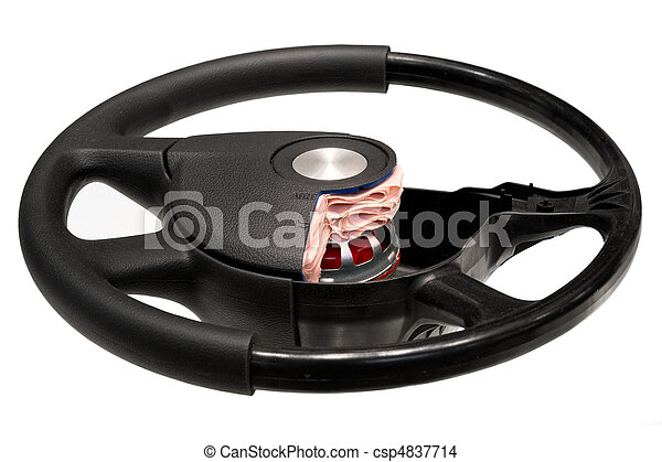 Steering wheel with SRS - csp4837714