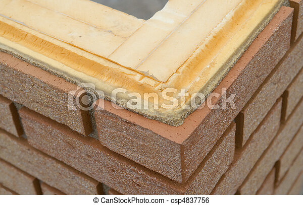 Thermal insulation of a brickwall - csp4837756