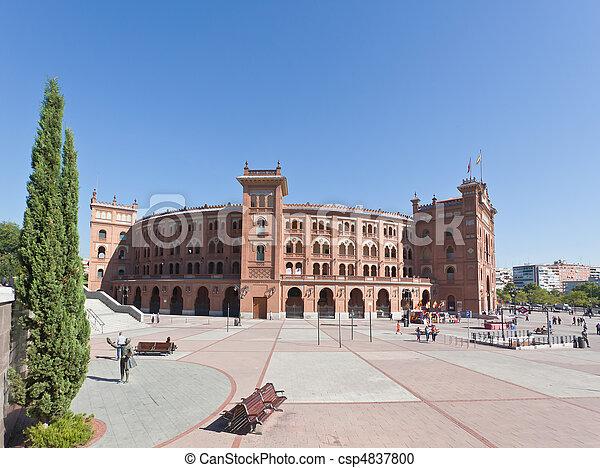 Famous bullfighting arena - Plaza de Toros in Madrid - csp4837800