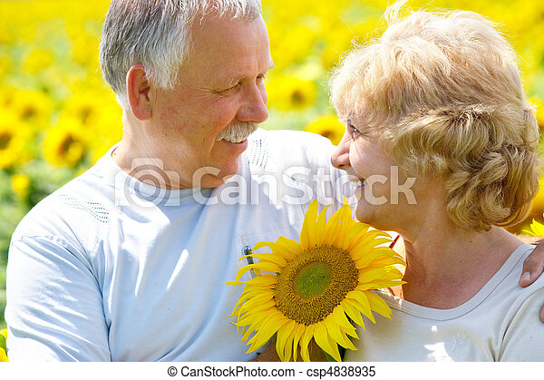 Elderly seniors couple - csp4838935