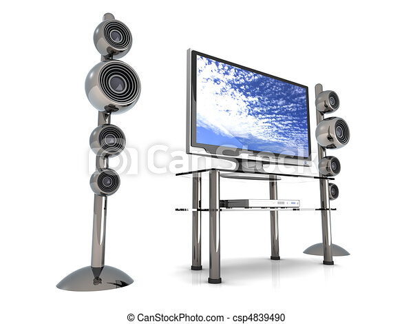 Home Entertainment System	 - csp4839490