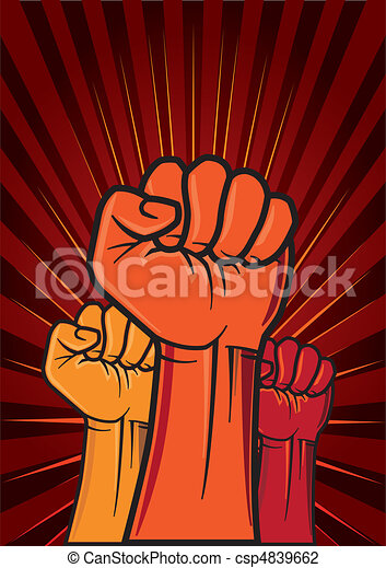 revolution fist  - csp4839662