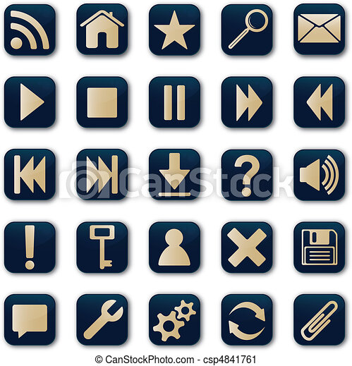 Square icons button set - csp4841761