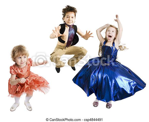 Children Jumping - csp4844491
