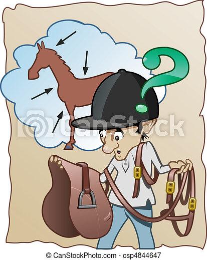 Inexperienced horse-rider - csp4844647