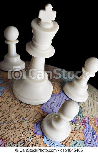 tierra, globo, ajedrez, pedazos - csp4845405