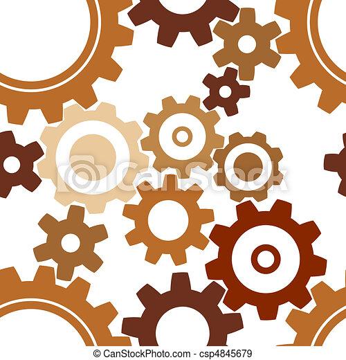 seamless rusty cogwheel pattern - csp4845679